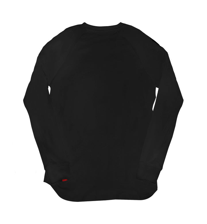 Warren Peace - Remy Long Sleeve V-Neck in Black Black - Designer Streetwear