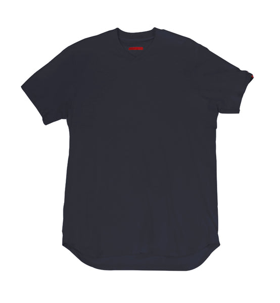 Warren Peace - Teller Short Sleeve V-Neck in Navy Cover - Designer Streetwear