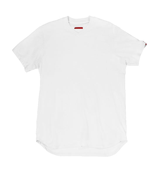 Warren Peace - Teller Short Sleeve V-Neck in White Cover - Designer Streetwear