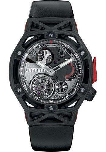 Hublot Techframe Ferrari Tourbillon Chronograph Carbon Watch 408.QU.0123.RX