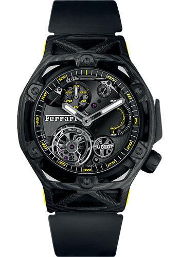 Hublot Techframe Ferrari Tourbillon Chronograph Carbon Watch 408.QU.0129.RX