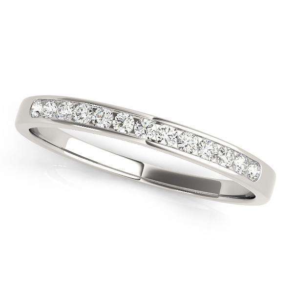 1/5 ct tw 14kt Gold Channel Set Diamond Wedding Band with F Color VS Clarity Diamonds