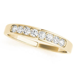 1/4 ct tw 14kt Gold Channel Set Diamond Wedding Band, F Color VS Diamonds