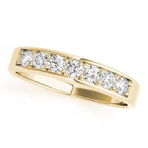 3/8 ct tw 14kt Gold Channel Set Diamond Wedding Band, F Color VS Diamonds