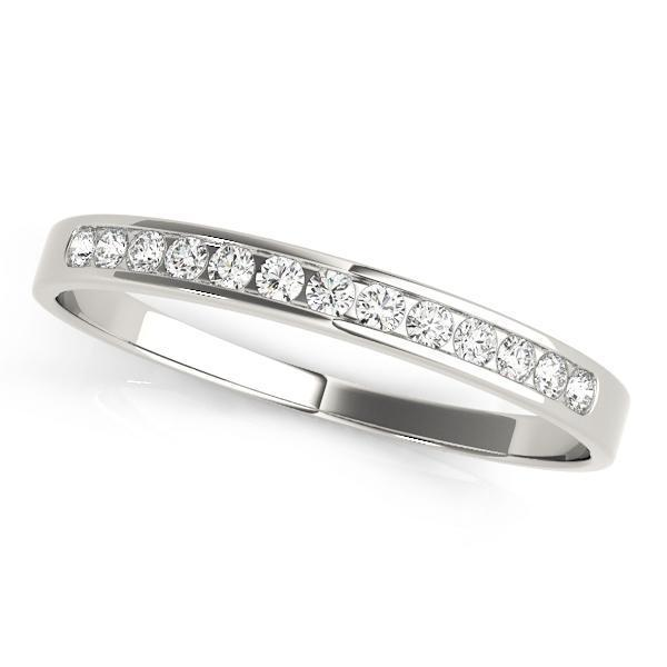 1/10 ct tw 14kt Gold Channel Set Diamond Wedding Band, F Color VS Diamonds