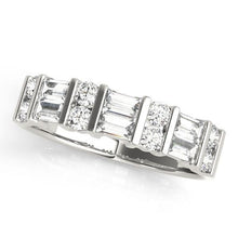 Load image into Gallery viewer, 7/8 ct tw 14kt Gold Baguette Diamond Wedding Band, F Color VS Diamonds
