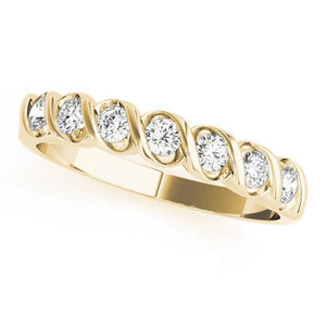1/4 ct tw 14kt Gold S Diamond Wedding Bands  with F Color VS Clarity Diamonds