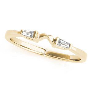 1/10 ct tw 14kt Gold Baguette Diamond Wedding Band, F Color VS Diamonds