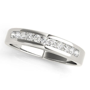 1/5 ct tw 14kt Gold Channel Set Diamond Wedding Band, F Color VS Diamonds