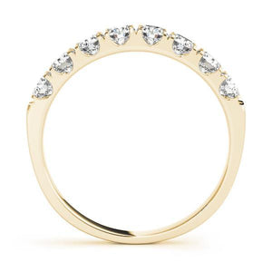 3/4 ct tw 14kt Gold Prong Set Diamond Wedding Band, F Color VS Diamonds