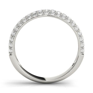 5/8 ct tw 14kt Gold Pave Diamond Wedding Band, F Color VS Diamonds
