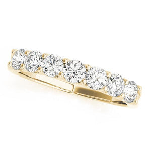 1 ct tw 14kt Gold Prong Set Diamond Wedding Band, F Color VS Diamonds