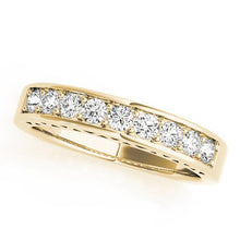 1/2 ct tw 14kt Gold Channel Set Diamond Wedding Band, F Color VS Diamonds