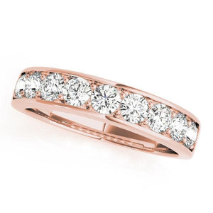 7/8 ct tw 14kt Gold Prong Set Diamond Wedding Band, F Color VS Diamonds