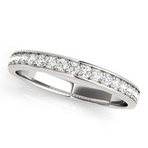 1/3 ct tw 14kt Gold Channel Set Diamond Wedding Band, F Color VS Diamonds