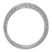 Load image into Gallery viewer, 1/3 ct tw 14kt Gold Pave Diamond Wedding Band, F Color VS Diamonds