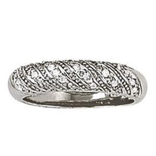 1/4 ct tw 14kt Gold Pave Diamond Heavy Wedding Band, F Color VS Diamonds