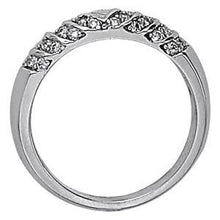 1/3 ct tw 14kt Gold Pave Diamond Wedding Band, F Color VS Diamonds