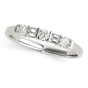 1/5 ct tw 14kt Gold Baguette Diamond Wedding Band, F Color VS Diamonds