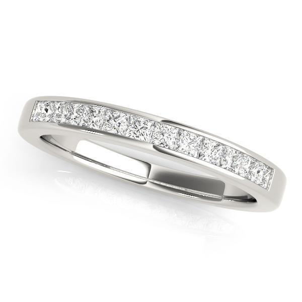 1 3/8 ct tw 14kt Gold Princess Diamond Wedding Band, F Color VS Diamonds