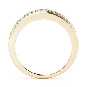 1/8 ct tw 14kt Gold Prong Set Diamond Wedding Band, F Color VS Diamonds