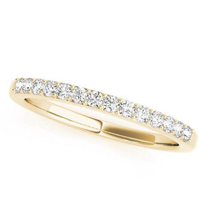 1/6 ct tw 14kt Gold Prong Set Diamond Wedding Band, F Color VS Diamonds