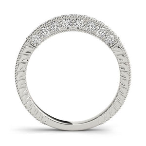1/4 ct tw 14kt Gold Pave Diamond Wedding Band, F Color VS Diamonds