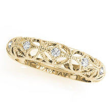 Load image into Gallery viewer, 1/15 ct tw 14kt Gold Prong Set Diamond Wedding Band, F Color VS Diamonds