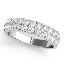 Load image into Gallery viewer, 1/3 ct tw 14kt Gold Prong Set Diamond Wedding Band, F Color VS Diamonds