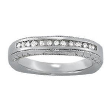Load image into Gallery viewer, 1/8 ct tw 14kt Gold Channel Set Diamond Wedding Band, F Color VS Diamonds