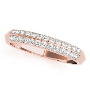 1/5 ct tw 14kt Gold Pave Diamond Wedding Band, F Color VS Diamonds
