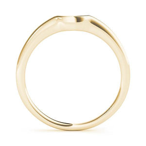 14kt Gold Curved Wedding Band