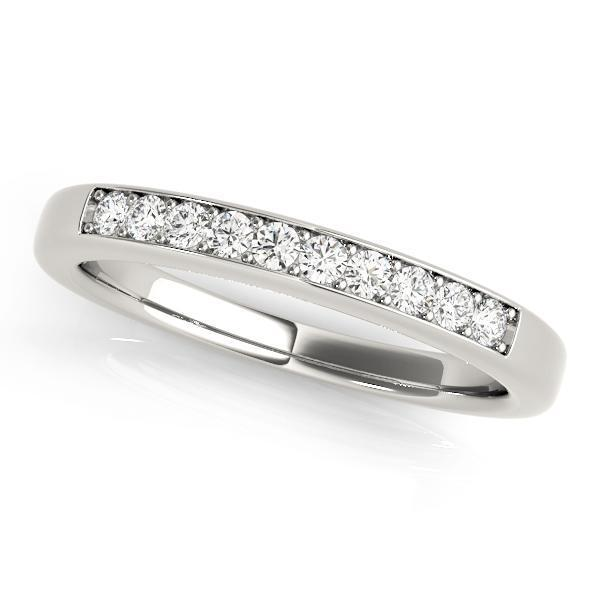 1/5 ct tw 14kt Gold Prong Set Diamond Wedding Band, F Color VS Diamonds