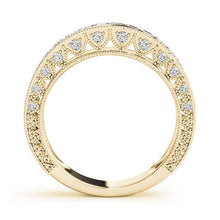Load image into Gallery viewer, 1 1/2 ct tw 14kt Gold Princess Diamond Wedding Band, F Color VS Diamonds