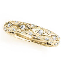 Load image into Gallery viewer, 5/8 ct tw 14kt Gold Pave Diamond Wedding Band, F Color VS Diamonds