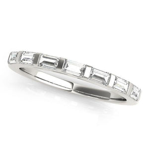 1 3/8 ct tw 14kt Gold Baguette Cut Diamond Wedding Band, F Color VS Diamonds