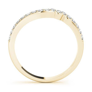 1/3 ct tw 14kt Gold Curved Diamond Wedding Band, F Color VS Diamonds