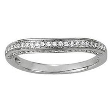 Load image into Gallery viewer, 1/4 ct tw 14kt Gold Curved Diamond Wedding Band, F Color VS Diamonds