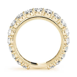2 5/8 ct tw 14kt Gold Prong Set Diamond Wedding Band, F Color VS Diamonds