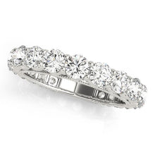 Load image into Gallery viewer, 2 5/8 ct tw 14kt Gold Prong Set Diamond Wedding Band, F Color VS Diamonds