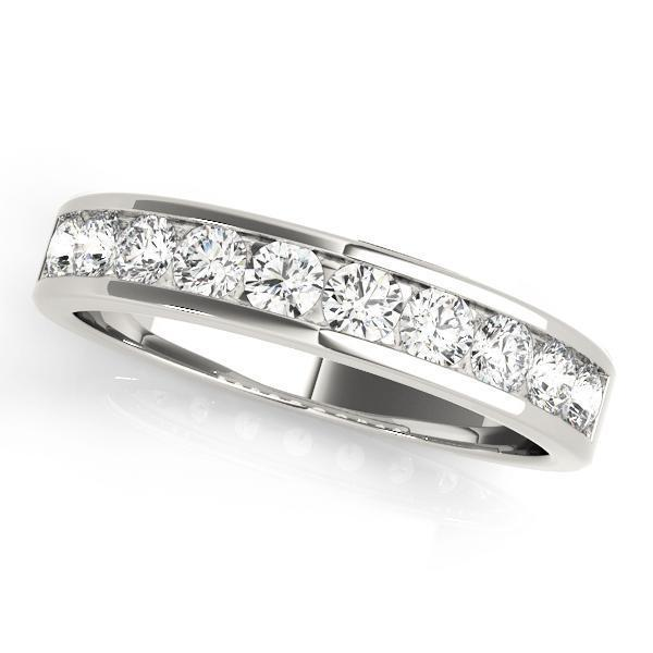 7/8 ct tw 14kt Gold Channel Set Diamond Wedding Band, F Color VS Diamonds