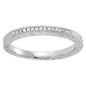 1/10 ct tw 14kt Gold Prong Set Diamond Wedding Band, F Color VS Diamonds