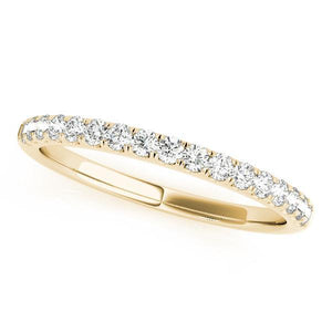 1/4 ct tw 14kt Gold Prong Set Diamond Wedding Band, F Color VS Diamonds