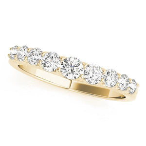 5/8 ct tw 14kt Gold Curved Diamond Wedding Band, F Color VS Diamonds