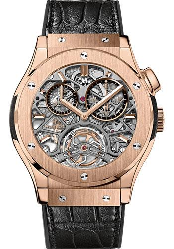 Hublot Classic Fusion 45mm Skeleton Tourbillon Watch 506.OX.0180.LR