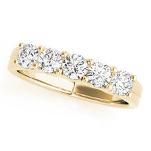 Load image into Gallery viewer, 3/4 ct tw 14kt Gold Prong Set Diamond Wedding Band, F Color VS Diamonds
