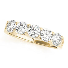 Load image into Gallery viewer, 1 1/2 ct tw 14kt Gold Prong Set Diamond Wedding Band, F Color VS Diamonds