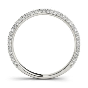 3/8 ct tw 14kt Gold Pave Diamond Wedding Band, F Color VS Diamonds