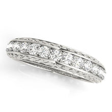 Load image into Gallery viewer, 1/2 ct tw 14kt Gold Prong Set Diamond Wedding Band, F Color VS Diamonds