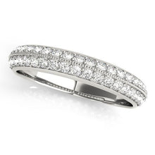 Load image into Gallery viewer, 3/8 ct tw 14kt Gold Pave Diamond Wedding Band, F Color VS Diamonds